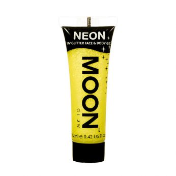 Neon UV Face & Body Glitter Paint Geel
