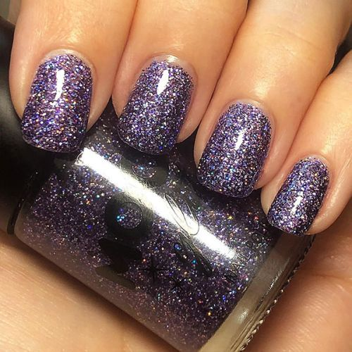 Holographic glitter nagellak - paars