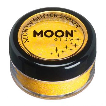 Neon uv glitter shaker - Golden yellow