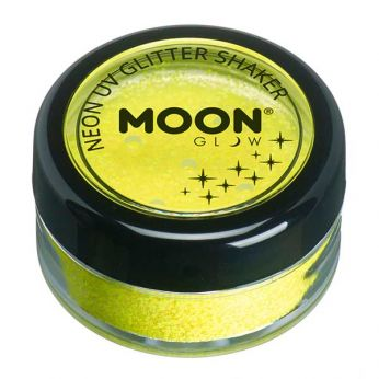 Neon uv glitter shaker - Yellow