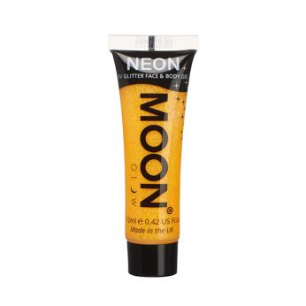 Neon UV Face & Body Glitter Paint Goud/Geel