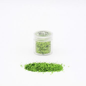 Chunky glitters tropical green