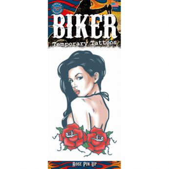 Biker Tattoo Rose Pin Up