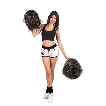 Cheerleader Pompon Zwart