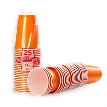 American Cups Orange 25 Stuks