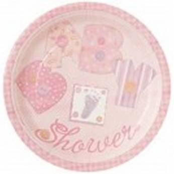 Bordjes Babyshower Roze