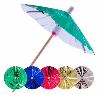 Cocktailprikkers Parasol Metallic