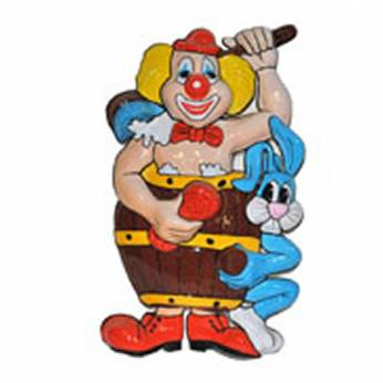Wanddecoratie Clown in en Was tombe