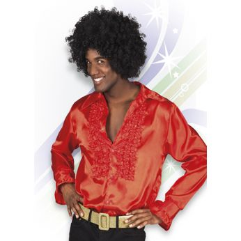 Disco Blouse (maat M) Rood