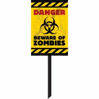 Bord danger zombies