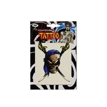 Piraten Tattoo Blauw