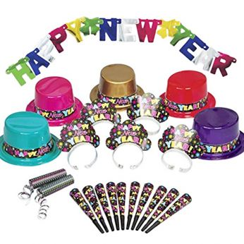 Party Set Happy New Year Gekleurd - 10 personen