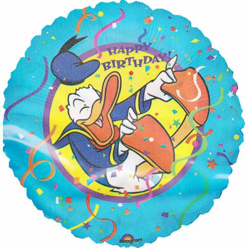Folieballon Donald Duck Verjaardag