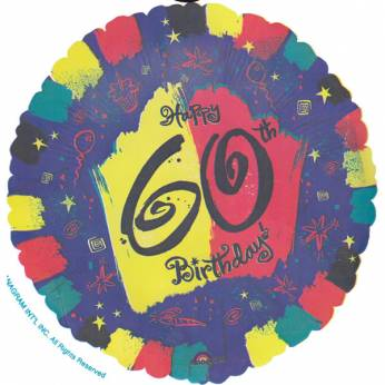Folieballon Happy 60th Birthday
