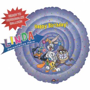 Gepersonaliseerde Folieballon Happy Birthday Looney Tunes