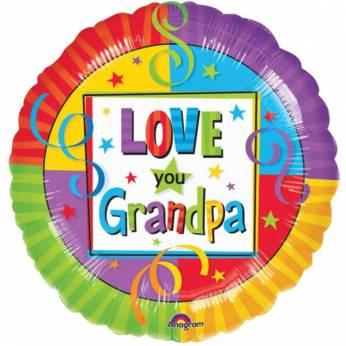 Folie ballon met de Tekst: Love you Grandpa
