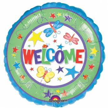 Folieballon met de Tekst: Welcome