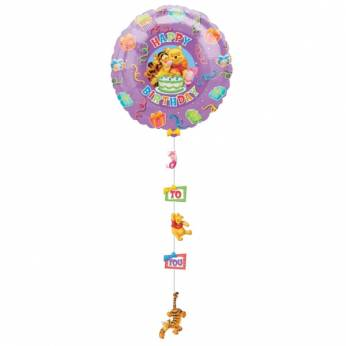 Drop a Line Folieballon Winnie de Pooh Birthday