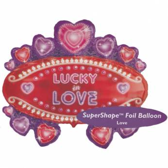 XL Folieballon Lucky In Love