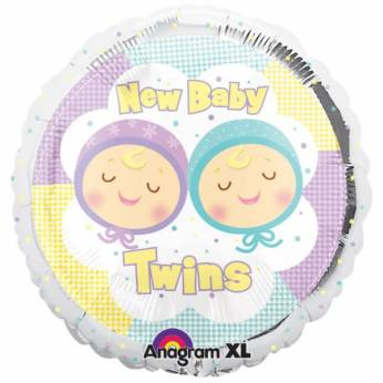 Folieballon New Baby Twins