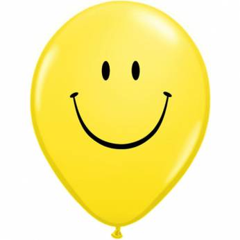Smile Face Yellow Q11 per 6 stuks
