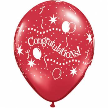 Qualatex Congratulations Party Q11 per 6 Stuks