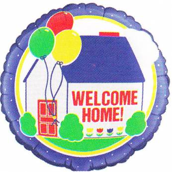 Folieballon Welcome Home