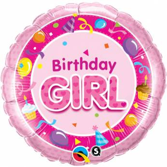 Folieballon Birthday Girl