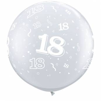 1 X 3FT (90 cm) Diamond Clear 18 Qualatex Ballon