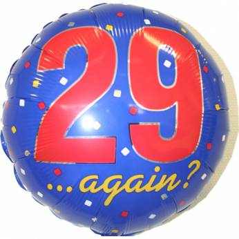 Folieballon 29 Again ?