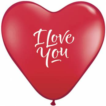 Latex Q15 50 Stuks I Love You Ballon