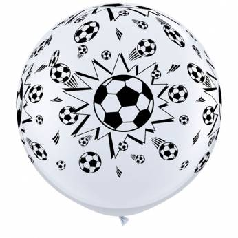 1 X 3FT (90 cm) SOCCER BALL Qualatex ballonnen