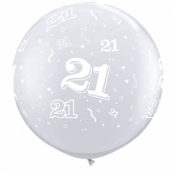 1 X 3FT (90 cm) Diamond Clear 21 Qualatex Ballon