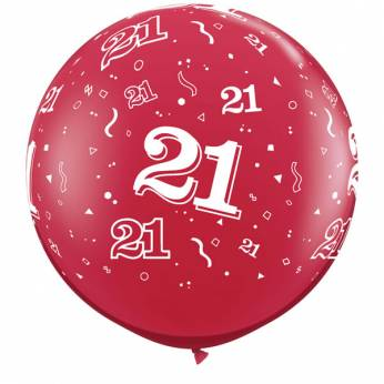 1 X 3FT (90 cm) Ruby Red 21 Qualatex Ballon
