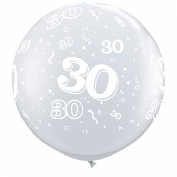 1 X 3FT (90 cm) Diamond Clear 30 Qualatex Ballon