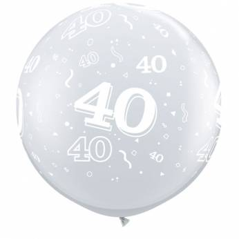 1 X 3FT (90 cm) Diamond Clear 40 Qualatex Ballon