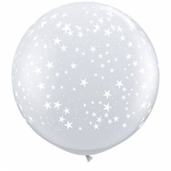 1 X 3FT (90 cm) STARS CLEAR Qualatex ballonnen