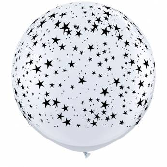 1 X 3FT (90 cm) STARS WHITE Qualatex ballonnen