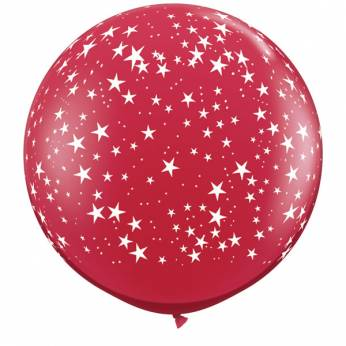 1 X 3FT (90 cm) STARS RUBY RED Qualatex ballonnen