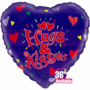 XL Folieballon Hugs & Kisses