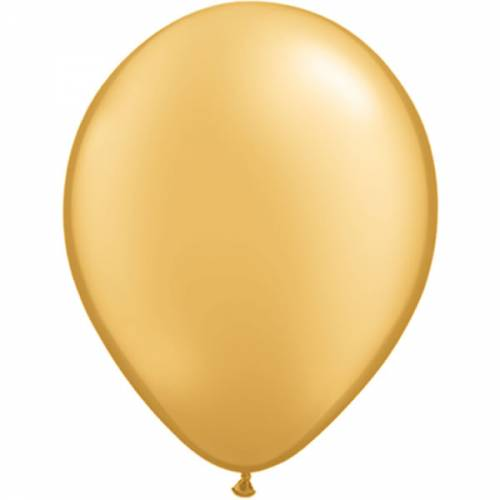 100 stuks 11 inch Gold Qualatex Ballon