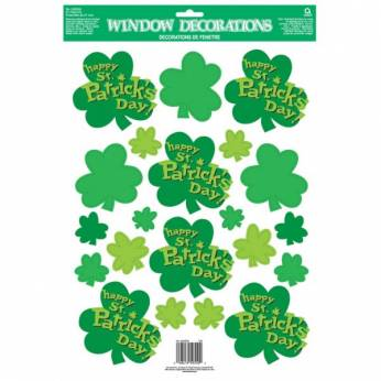 St Patricks Day Raamstickers Shamrock