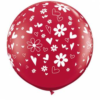 Hearts & Daisy's Ruby Red 3ft per Stuk