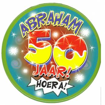 Button Abraham 50 jaar