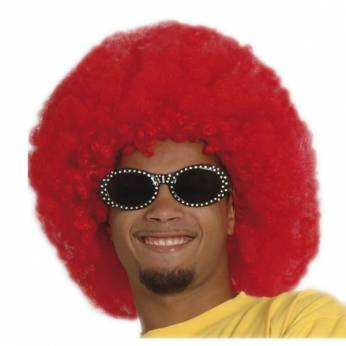 Super Pruik Afro Rood