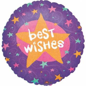 Folieballon met de Tekst: Best Wishes