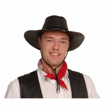 Cowboyhoed Zwart Lederlook