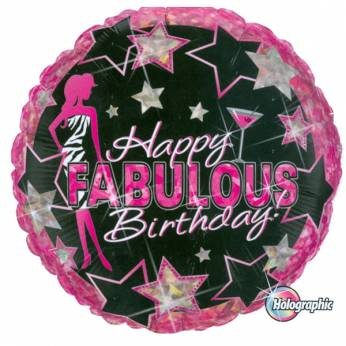 Folieballon Happy Fabulous Birthday