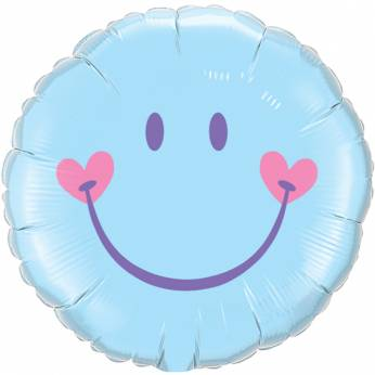 Folieballon Blauwe Smiley