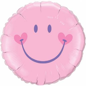 Folieballon Roze Smiley